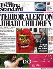 London Evening Standard (UK) Newspaper Front Page for 2 February 2018