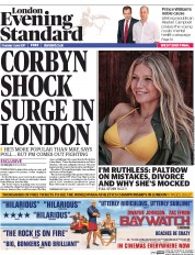London Evening Standard (UK) Newspaper Front Page for 2 June 2017