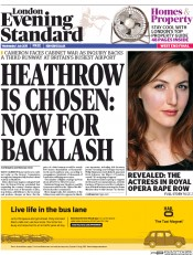 London Evening Standard (UK) Newspaper Front Page for 2 July 2015