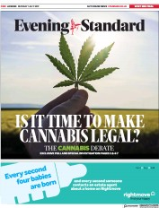 London Evening Standard (UK) Newspaper Front Page for 2 July 2019
