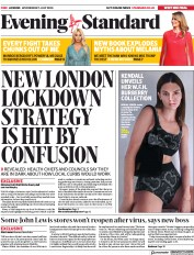 London Evening Standard front page for 2 July 2020