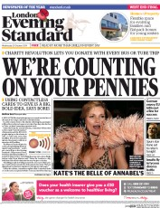 London Evening Standard (UK) Newspaper Front Page for 30 October 2014