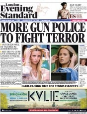 London Evening Standard (UK) Newspaper Front Page for 30 January 2015