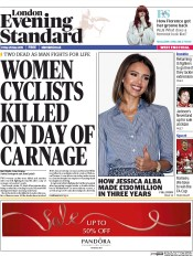 London Evening Standard (UK) Newspaper Front Page for 30 May 2015