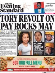 London Evening Standard (UK) Newspaper Front Page for 30 June 2017