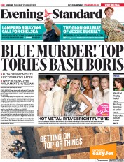London Evening Standard (UK) Newspaper Front Page for 30 August 2019