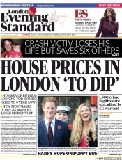 London Evening Standard (UK) Newspaper Front Page for 31 October 2014