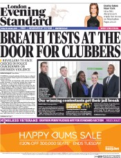 London Evening Standard (UK) Newspaper Front Page for 31 January 2015