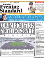 London Evening Standard () Newspaper Front Page for 31 March 2011