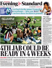 London Evening Standard (UK) Newspaper Front Page for 31 March 2021