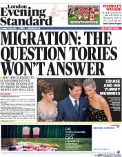 London Evening Standard (UK) Newspaper Front Page for 31 May 2017