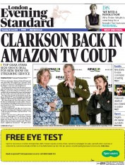 London Evening Standard (UK) Newspaper Front Page for 31 July 2015