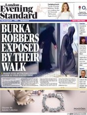 London Evening Standard (UK) Newspaper Front Page for 31 August 2015