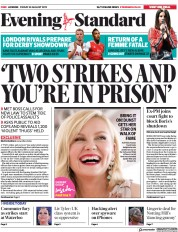 London Evening Standard () Newspaper Front Page for 31 August 2019