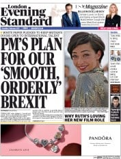 London Evening Standard (UK) Newspaper Front Page for 3 February 2017