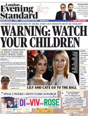 London Evening Standard (UK) Newspaper Front Page for 3 March 2015