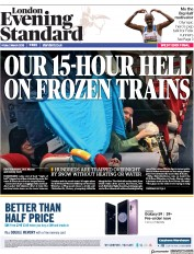 London Evening Standard (UK) Newspaper Front Page for 3 March 2018