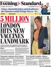 London Evening Standard front page for 3 May 2021