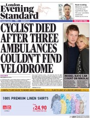 London Evening Standard () Newspaper Front Page for 3 June 2016