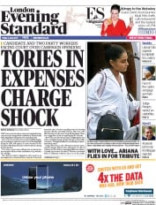London Evening Standard (UK) Newspaper Front Page for 3 June 2017