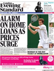 London Evening Standard (UK) Newspaper Front Page for 3 July 2015