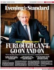 London Evening Standard front page for 3 July 2020