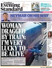 London Evening Standard (UK) Newspaper Front Page for 3 August 2017