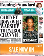London Evening Standard (UK) Newspaper Front Page for 4 January 2019