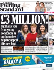 London Evening Standard (UK) Newspaper Front Page for 4 February 2017