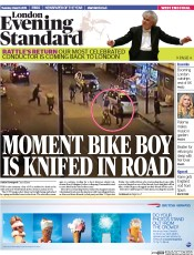 London Evening Standard (UK) Newspaper Front Page for 4 March 2015
