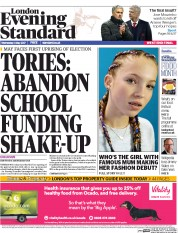 London Evening Standard (UK) Newspaper Front Page for 4 May 2017