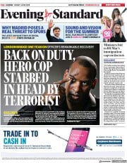 London Evening Standard (UK) Newspaper Front Page for 4 June 2018