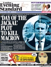 London Evening Standard (UK) Newspaper Front Page for 4 July 2017