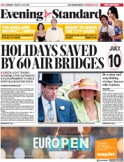 London Evening Standard (UK) Newspaper Front Page for 4 July 2020