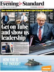 London Evening Standard front page for 4 September 2020