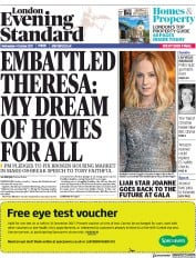 London Evening Standard (UK) Newspaper Front Page for 5 October 2017