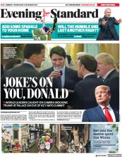 London Evening Standard () Newspaper Front Page for 5 December 2019