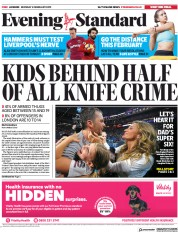 London Evening Standard (UK) Newspaper Front Page for 5 February 2019