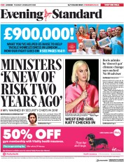 London Evening Standard (UK) Newspaper Front Page for 5 February 2020