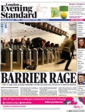 London Evening Standard (UK) Newspaper Front Page for 5 March 2015