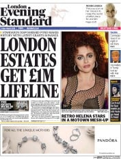 London Evening Standard (UK) Newspaper Front Page for 5 March 2016