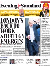 London Evening Standard (UK) Newspaper Front Page for 5 May 2020