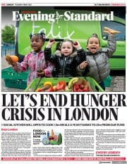 London Evening Standard front page for 5 May 2021