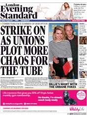 London Evening Standard (UK) Newspaper Front Page for 5 August 2015