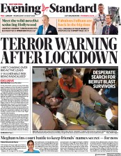 London Evening Standard front page for 5 August 2020