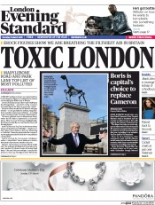 London Evening Standard (UK) Newspaper Front Page for 6 March 2015