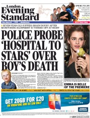 London Evening Standard (UK) Newspaper Front Page for 6 March 2017