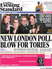 London Evening Standard (UK) Newspaper Front Page for 6 March 2018