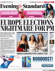 London Evening Standard () Newspaper Front Page for 6 April 2019