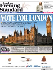 London Evening Standard (UK) Newspaper Front Page for 6 May 2015